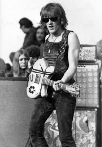 LIVERMORE, CA - DECEMBER 6: Paul Kantner of the Jefferson Airplane at The Altamont Speedway on December 6, 1969 in Livermore, California. (Photo by Robert Altman)